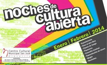 """Comienzan las """"Noches de Cultura Abierta"""" en el Centro Cultural Municipal """"San José"""""""