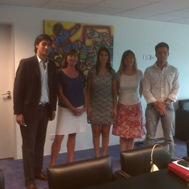 Adrián Pérez y Liliana Schwindt se reunieron con integrantes de la Cámara de Productores de Alimentos Libres de Gluten