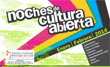 Hay más Noches de Cultura Abierta en el Centro Cultural Municipal