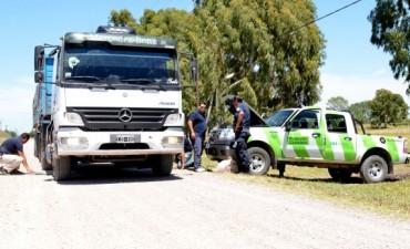 Detectaron un camión con 21.500 kilos de sobrecarga