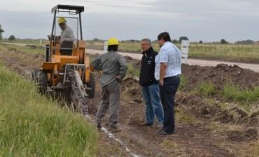 Comenzaron las obras de construcción de la red de gas para el futuro Parque Empresarial de Ruta 51