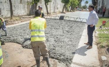Azul: el Intendente recorrió obras de pavimento