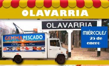 El camión de Pescado en Olavarría