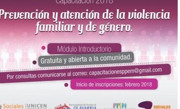 Continúa la Capacitación sobre Prevención de la Violencia Familiar y de Género