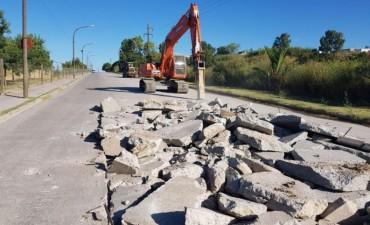 Comenzó la obra de repavimentación de la avenida Centenario