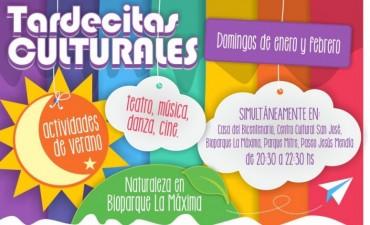 El programa de las Tardecitas Culturales para el domingo