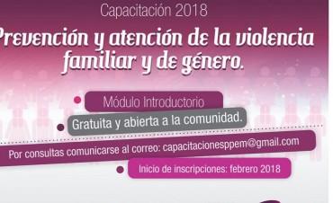 Capacitación sobre Prevención de la Violencia Familiar y de Género