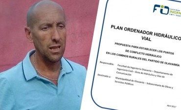 Ponen en marcha un Plan Ordenador Hidráulico para caminos rurales de Olavarría.