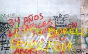 Graffitis: deberán cumplir con trabajos de utilidad pública en el Hospital