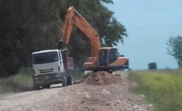 Trabajos en los caminos rurales de Olavarría