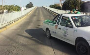 Se habilitó el tránsito en el puente de avenida Colón