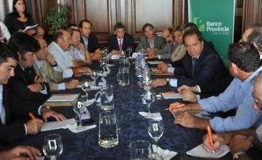Scioli se reunió con la Mesa Agropecuaria Provincial