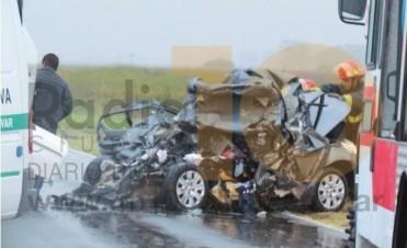 Choque fatal en ruta 205: dos muertos