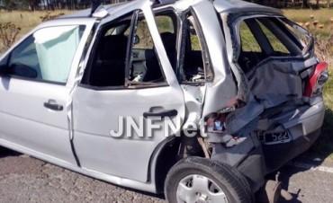 Una familia olavarriense se accidentó en viaje hacia Necochea