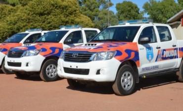 El Intendente Galli entregó móviles policiales para la Patrulla Rural
