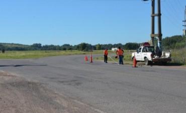 Señalización vial en autopista Fortabat y Ruta 51