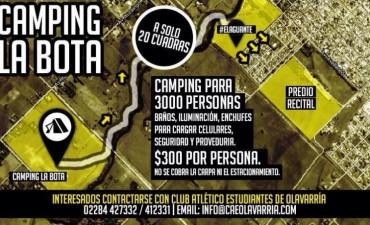 Estudiantes dispondrá un camping en La Bota para el recital del Indio