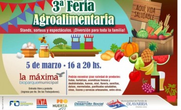 Olavarría se prepara para la 3ª Feria Agroalimentaria
