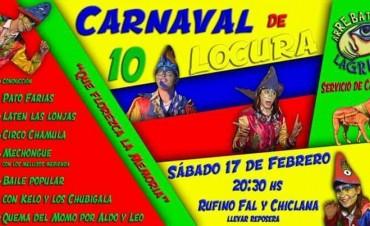 Arrebatando Lágrimas realiza la 10ma edición del Carnaval de la Locura