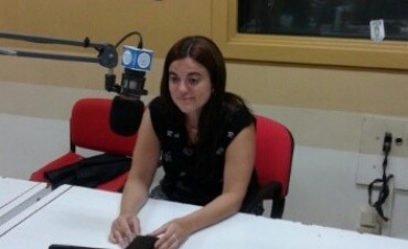 La periodista Florencia Cordero en Radio Olavarría
