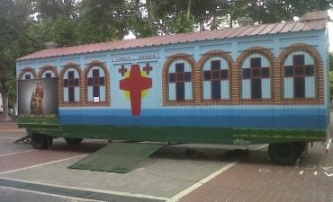 La capilla móvil nuevamente en Olavarría