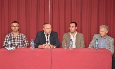 Iguerategui firmó convenios entre Fundación Loma Negra, Municipalidad de Olavarría, ITECO, Cumelen y Rotary Sierras Bayas
