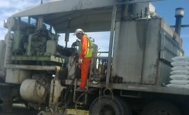 Estado de obra en la Ruta 51