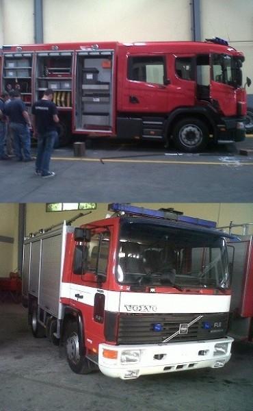 Camiones con oficio de