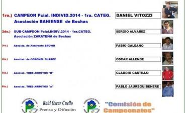 Bochas. Daniel Vitozzi Campeón Provincial