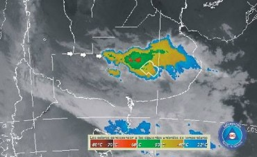 Rige aviso meteorológico por tormentas fuertes y ocasional caída de granizo