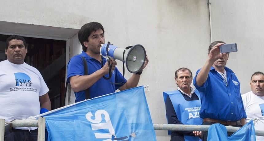 Azul Municipales: Después de tres días de lucha, se logró un acuerdo salarial para el primer trimestre