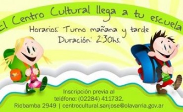 El Centro Cultural llega a tu escuela