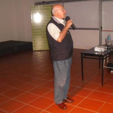 El Ing Agr Eduardo Sierra dió una charla sobre clima en Olavarría