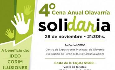 La cuarta cena anual solidaria ya tiene fecha
