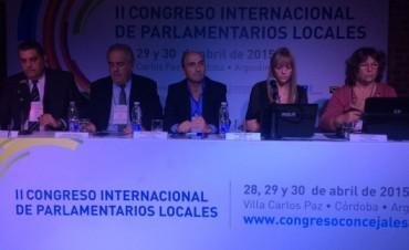 Eduardo Rodríguez expuso en el Congreso Internacional de Parlamentarios