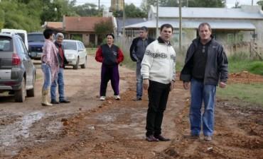 Azul: el Intendente constató trabajos de mejora de calles