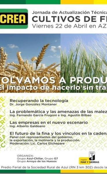 CREA: las jornadas de trigo, vuelven a ser de trigo