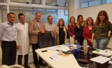 Lordén visitó el Hospital de Mar del Plata y el CEMA