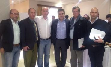 Funcionarios municipales con Ritondo en el Consejo Provincial de Seguridad Pública