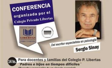 Sergio Sinay en una charla para pensar la educación