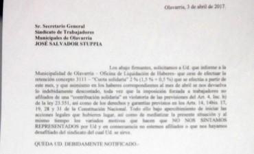 Municipales: un empleado juntó firmas en contra del descuento y no se las quisieron recibir en el sindicato
