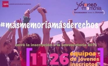 Jóvenes y Memoria: más de 1100 equipos de investigación se inscribieron en la XVI convocatoria