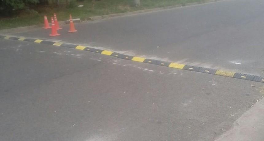 Se reinstaló un reductor de velocidad en Independencia y Giovanelli