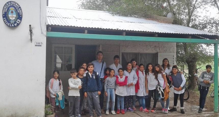 """""""Olavarría conoce a Olavarría"""": capacitación en la Escuela N° 13 de Sierra Chica"""
