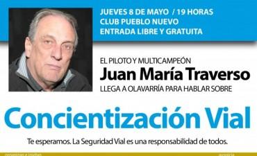 """Juan María """"Flaco"""" Traverso en Olavaria"""
