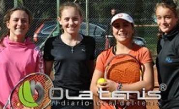 Buena actuación de tenistas locales