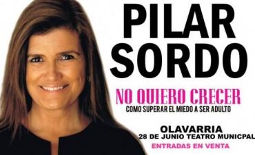 Expectativa por la llegada de Pilar Sordo a Olavarría