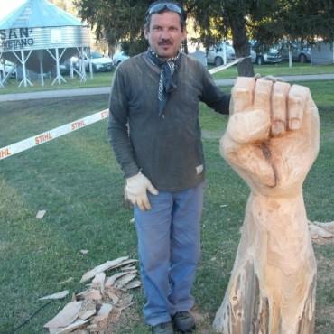 Esculturas con motosierras