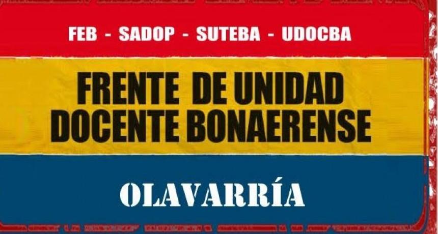 El Frente de Unidad Docente Bonaerense anuncia medidas de acción