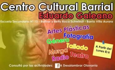 Inauguran este sábado el Centro Cultural Eduardo Galeano